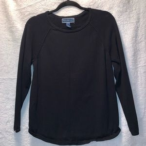 Karen Scott Crew Neck Sweater Black Size Medium